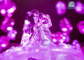 Ledena figura - roze mladenci